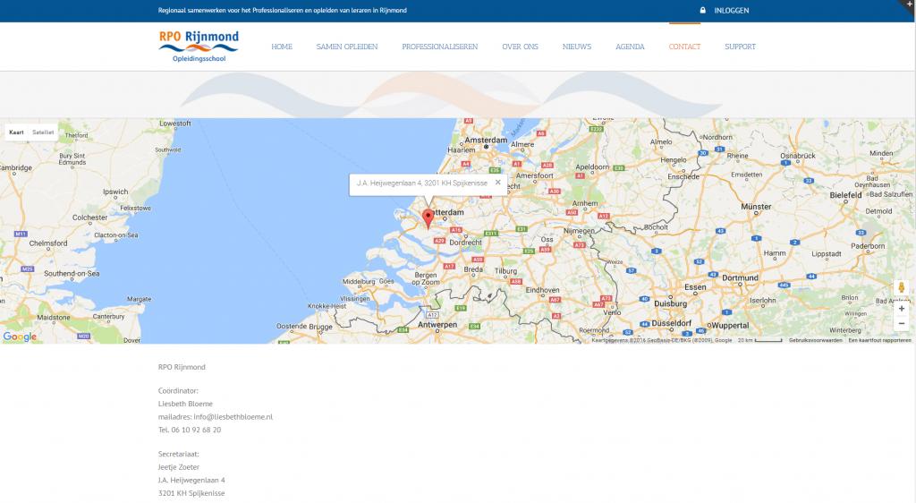 Webdevelopment RPO Rijnmond